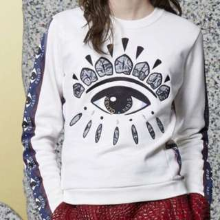 Kenzo Eye Sweatshirt White