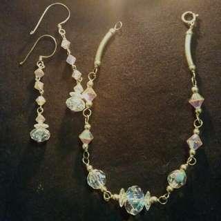 Crystal Bracelet & Earring Set