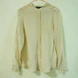 ZARA WOMAN Cream Satin Shirt
