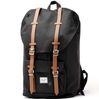 [INSTOCK] Herschel Little America Mid Volume, Black/Tan