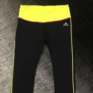 Adidas Black 3/4 Length Training Tights XS