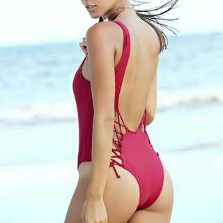 Lace Up Swim Suit