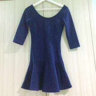 STRADIVARIUS NAVY DRESS
