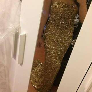 Stunning Gold Formal Dress / Gown