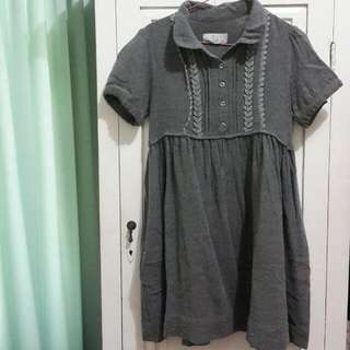 ZARA TRF Midi Grey Dress