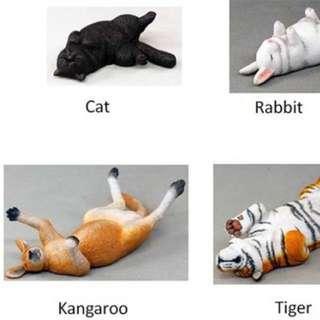 扭蛋休眠動物鹿和老虎