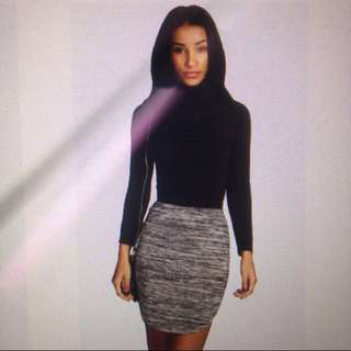 Felicity Knitted Bodycon Mini Skirt (Pick Up At $10)