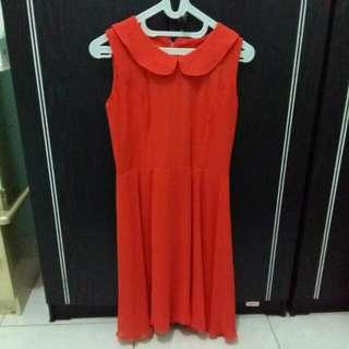 Orange Simple Dress