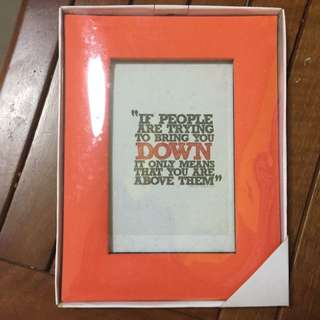 Orange-Red Fabric 4R Frame