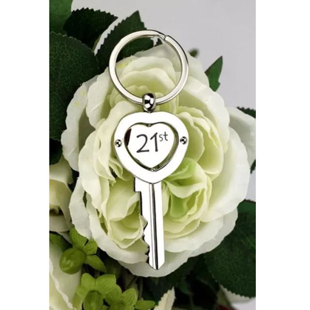 21st Birthday Gift | Present | Heart Key | Keyring Keepsake