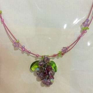 Handmade Grape Necklace
