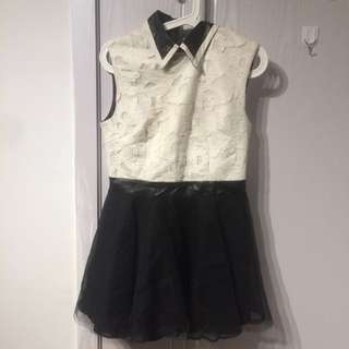 韓款lace dress