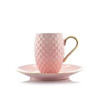 PINEAPPLE CUP PINK WITH SAUCER