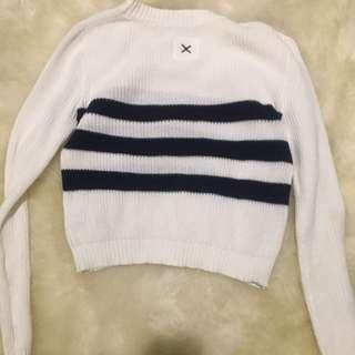 First Base Cropped Knit Size Zero