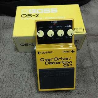 BOSS OS-2 破音效果器【Overdrive/Distortion/過載/OS2/電吉他單顆效果器】