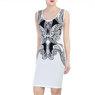 (Postage Include!) Doublewoot Knitted Luxe Bodycon White Dress