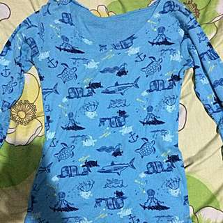 Blue Printed Longsleeves