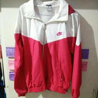 Nike White-Pink Training Jacket (With Hoddie)