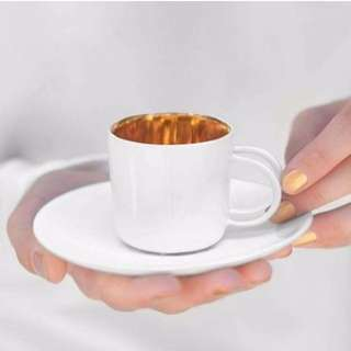 EXPRESSO CUP WITH GOLDEN INSIDE