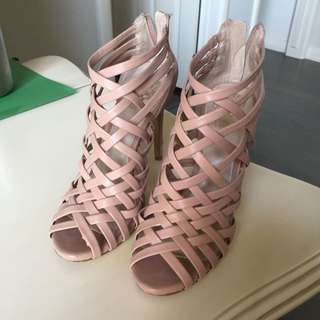 Vince Camuto Pink Farica Strappy Heels