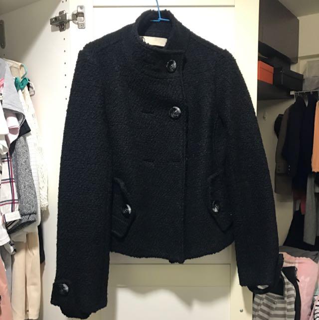 2手黑色短大衣