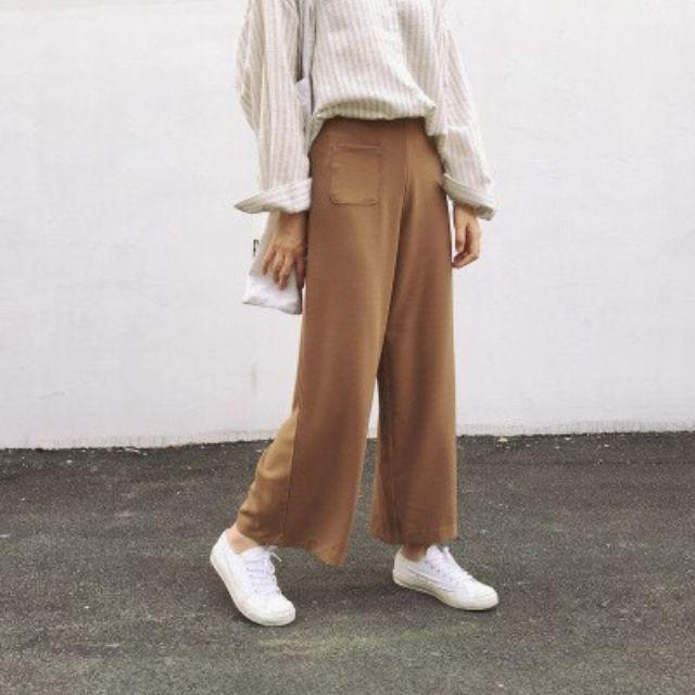 現貨/韓版寬鬆西裝寬褲