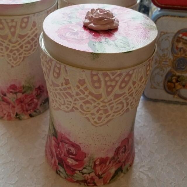 歐洲手作玫瑰儲物罐