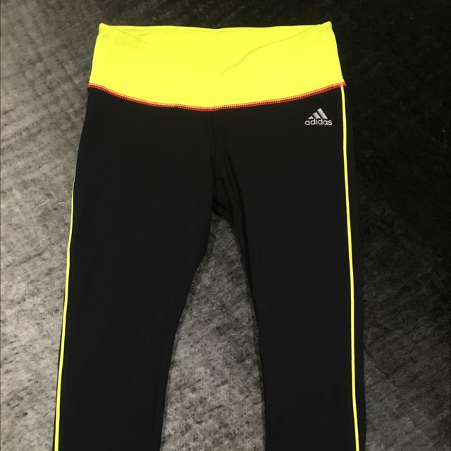 Adidas Black 3/4 Length Training Tights XS