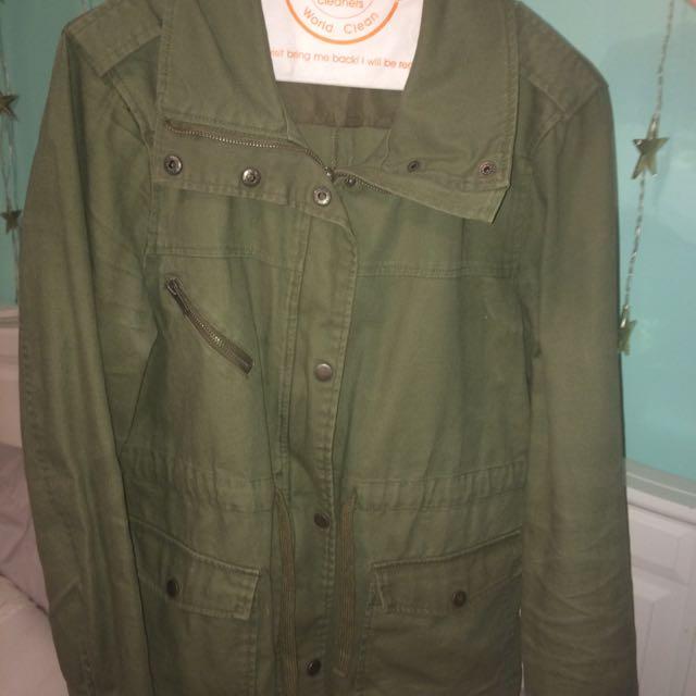 army green jacket!
