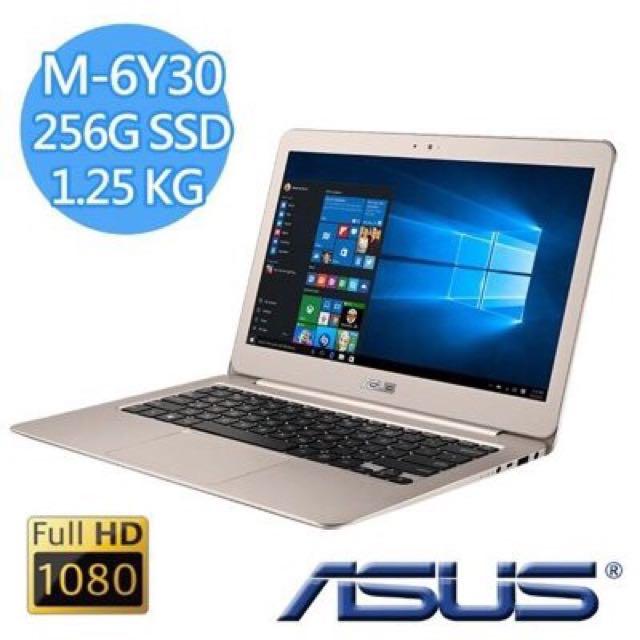 全新未拆ASUS ZenBook UX305CA 13吋筆電(M3-6Y30/256G/4G/蜜粉金)