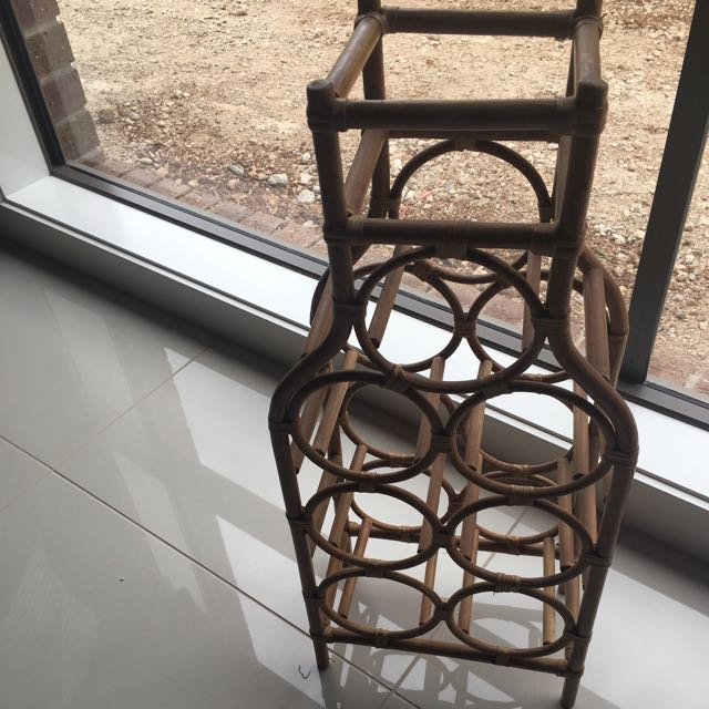 Bamboo Bottle Stand