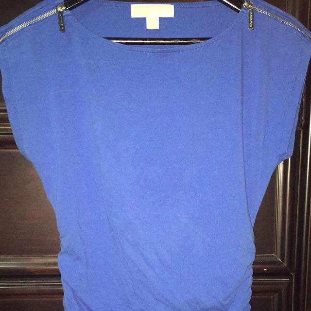 Blue michael kors shirt size small