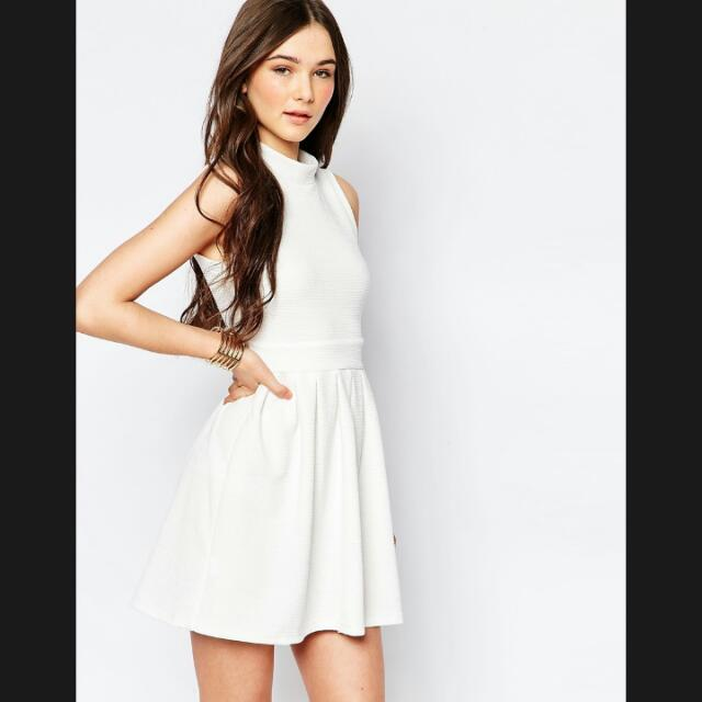Bn Turtle Neck White Prom Dress Womens Fashion Clothes On Carousell