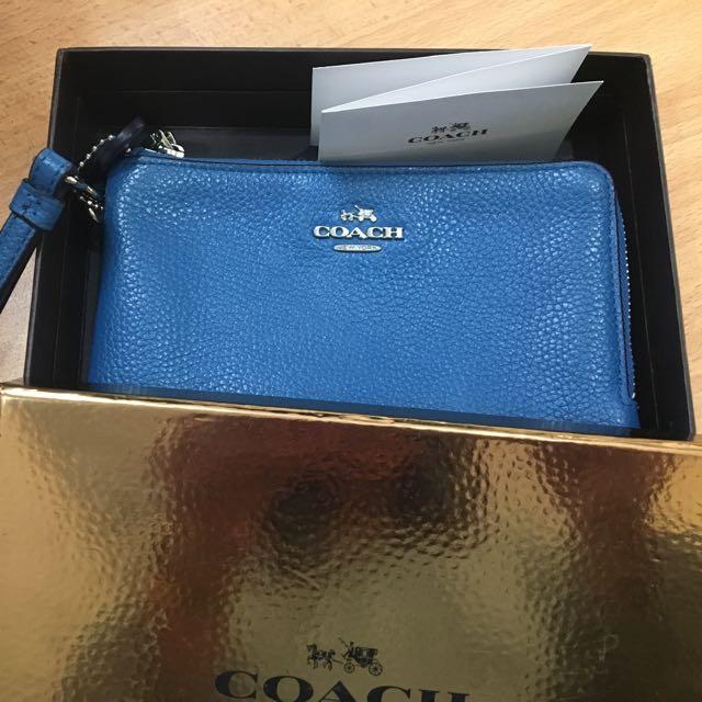 Coach Blue Purse/Wallet
