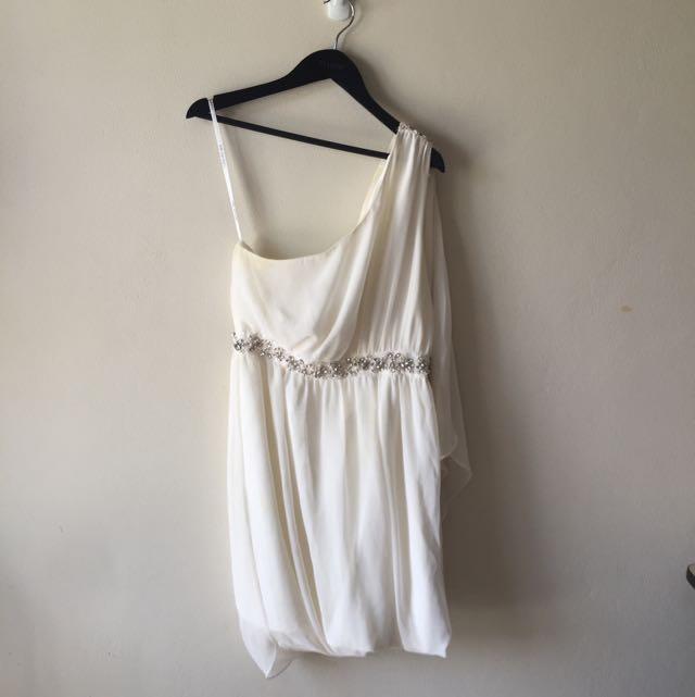 Forever New Embellished One Shoulder Dress