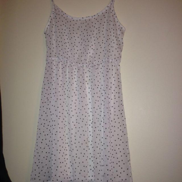 Garage White Flowy Dress