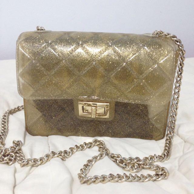 Gold Sling Bag