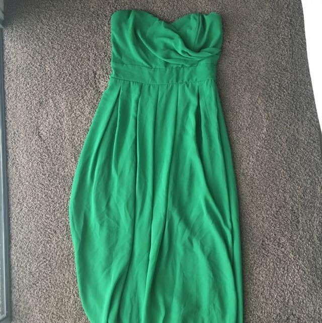 Green Asos Chiffon Sweetheart Shape Formal Dress