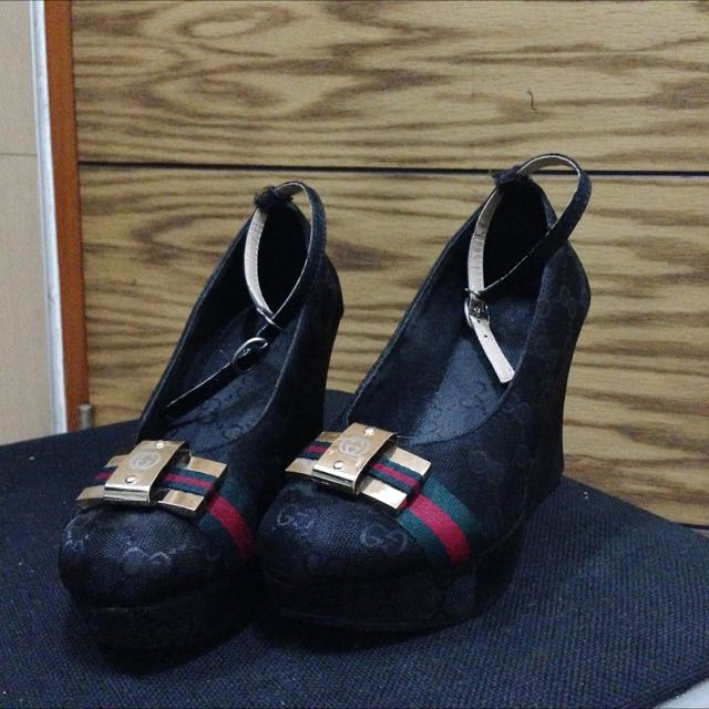 Gucci Black Wedges Shoes