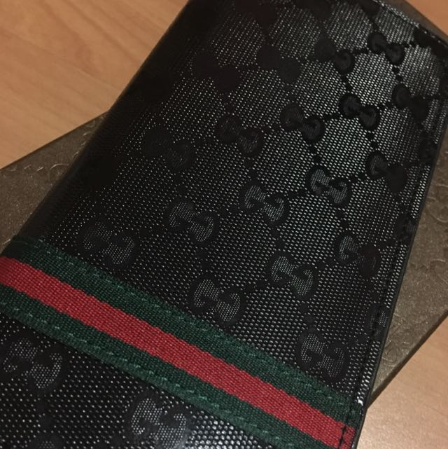 83213962cdd Inspired Gucci Patent Long Wallet Men