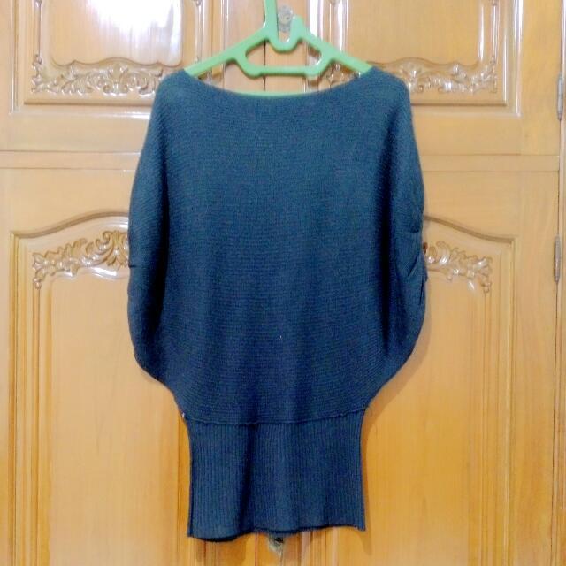 Knit Outer (Biru Dongker)