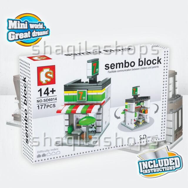Lego City 711 Seven Eleven Sembo Block SD6014
