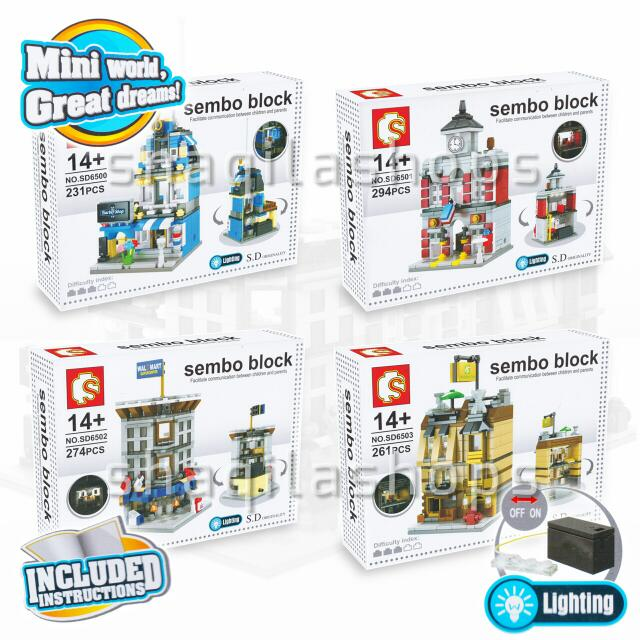 Lego City Sembo Block SD6500 - SD6503 Set (4 Pcs)