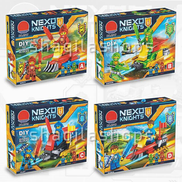 Lego Nexo Knigts With Friction Gear Set (4 Pcs)