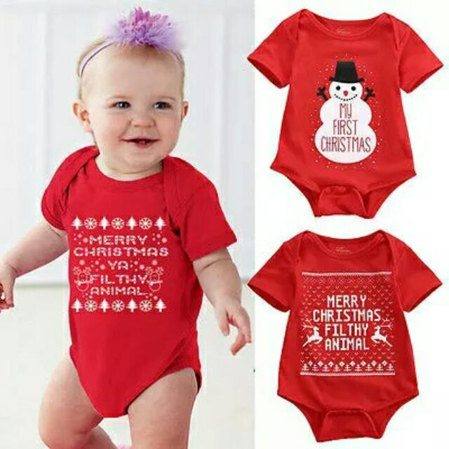 ea79bcd39ca09 Newborn Baby Girls Boys Christmas Romper Santa Claus Bodysuit snowflakes  Jumpsuit baby Outfit Set Christmas Costume, Sizes 0-8mth