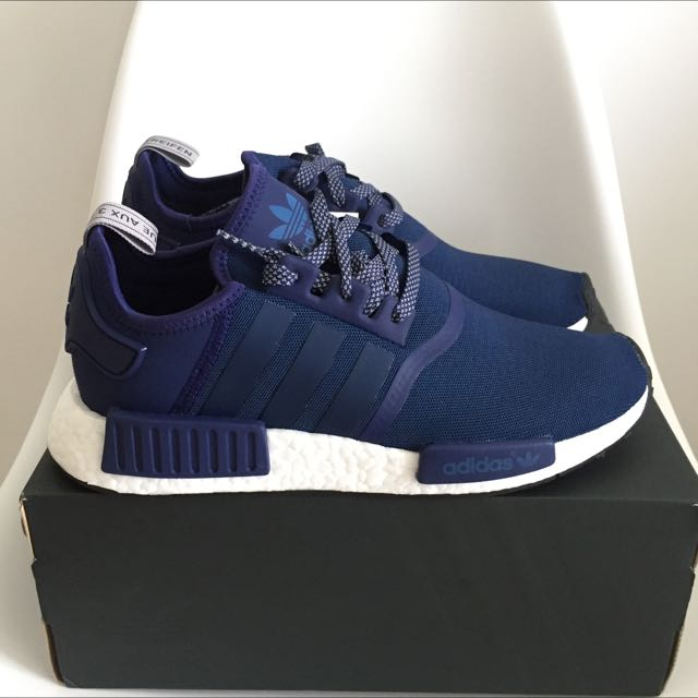 34bb8a3f8 Adidas NMD R1 Navy Blue   White BY2505