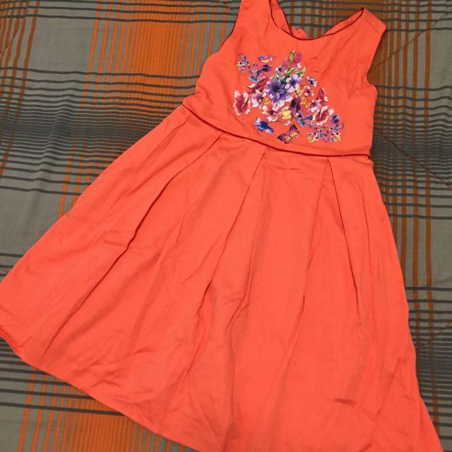 Orange Cross Back - Sunday Dress