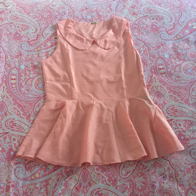 peach peplum blouse