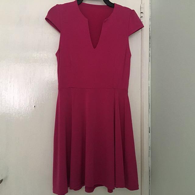 Pink Fuschia Mini Dress