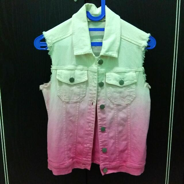 Pink Ombre Rompi Jeans